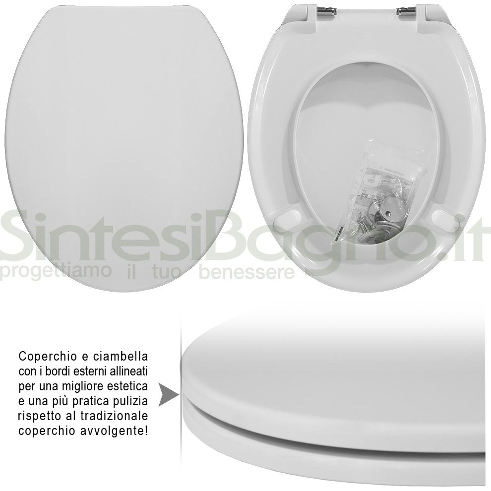 Copriwater in resina ureica termoindurente, aggiornamenti sedili WC!